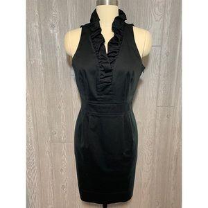 Taylor Black Ruffle Collar Sheath Dress 12